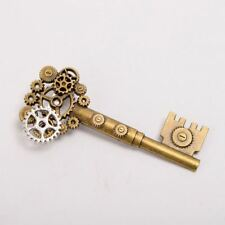 Medieval Vintage Gear Key Pattern Retro Victorian Breastpin Steampunk Brooch Pin