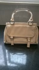"Monsoon Accessorize cream handbag/buckle detail/3 compartments 10"" x 6"" x 2.5"""