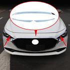 Car Grille Lip Cover For Mazda 3 2019-2021 Front Hood Bonnet Trim Strip Parts 4x
