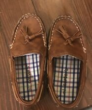 Carters Boy Shoes Size 9 Brown Slip On Loafers Toddler Boat Shoes