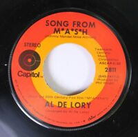 Rock 45 Al De Lory - Song From M*A*S*H / Feeling Of Love On Capitol 6