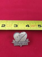 Vintage CASE MANAGERS HAND IN HAND Button Pin Pinback *QQ16-1