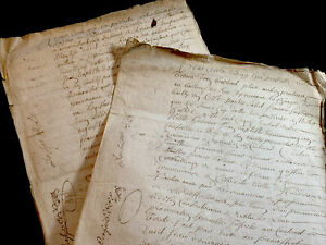 LOT OF TWO OLD MANUSCRIPTS  1700s