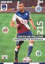 059 NICOLAS PALLOIS FRANCE GIRONDINS BORDEAUX CARD ADRENALYN 2016 PANINI