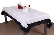 tischdecke schwarz wei g nstig kaufen ebay. Black Bedroom Furniture Sets. Home Design Ideas