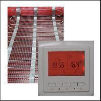 elektrische Fußbodenheizung TWIN 1 2 3 4 5 6 7... 20  m2 mit HB RED RTC75 Regler