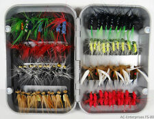 80 Pcs Assorted Fly Fishing Lure Set with Fly Box