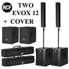 RCF EVOX 12 Vertical Array Column Speaker w/ Subwoofer FREE COVER  2 PACKAGE