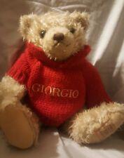 "Giorgio Beverly Hills Teddy Bear plush 13"" sweater"
