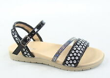 Link Youth Girl's Bling Gladiator Buckles Flat Heel Sandal Shoes Size 9-4 NEW
