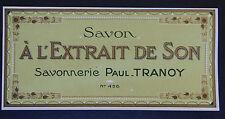 Etiquette savon PAUL TRANNOY n°456 Antique Perfume Soap Label French Paris