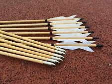 6PK white Elven wood arrows traditional bow archery outdoor hunting
