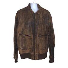Vintage 1990s Scully Men's Size 48 Xl G-2 Flight Bomber Pilot Leather Jacket