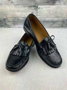 Cole Haan Black Leather Pinch Tassel Dress Loafer Shoes - Mens 12 D - EUC!
