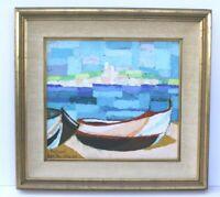 Abstract Ken Treister 1966 Mid Century Modern Painting