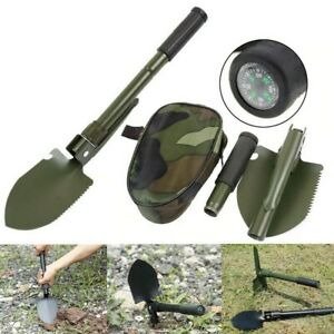 Outdoor Folding Shovel and Bag Garden Camping Multi-Purpose Shovel Tool