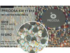 50 VINTAGE 15x11mm WHITE TEARDROP GLASS GEM JEWELS s371