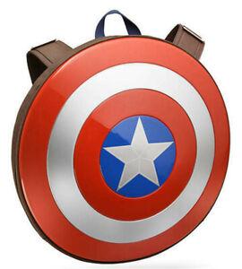 Marvel 75th Anniversary Captain America Shield Backpack School Bag Satchel Tote