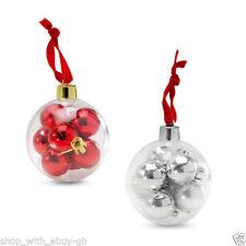 Decorazioni rosso in plastica per albero di Natale