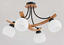 ALFA - JONA BLACK 23284 - Wooden Ceiling Lamp - Chandelier - Modern Light