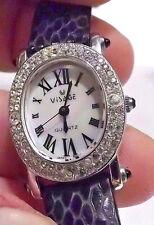 Swarovski Crystal & MOP $200 Women's Visage Watch. Lower Price! 1 Year Warranty!