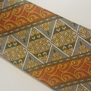 Haband Men's Vintage Tie Orange Yellow