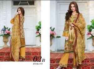 **SPECIAL OFFER 2 SUITS FOR £25** Lawn suit By Al Dawood Textiles-unstitched