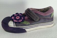 Morgan and Milo Girl size 10 Toddler Mary Jane Flats Sneaker Shoes Purple Floral