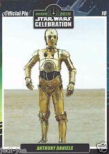 Anthony Daniels Official Pix Star Wars Autograph Trading Card CelebrationAnaheim