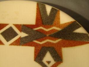 "Vintage Shenango Mid Century Tiki Hawaiian Pattern 9.5"" Sample Dinner Plate"