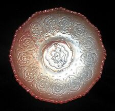 FENTON Marigold Carnival Glass PERSIAN MEDALLION Pattern Bowl Dish