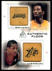 2000-01 Upper Deck SP Authentic Kobe Bryant Allen Iverson Combo Authentic Floor