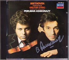 ASHKENAZY Signed BEETHOVEN Violin Sonata 5 9  Itzhak PERLMAN CD Spring Kreutzer
