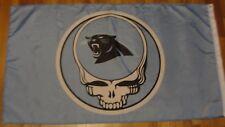 Grateful Dead Steal Your Face Carolina Panthers Flag