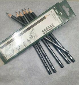 Faber-Castell Black Matt Drawing Art Pencils (set of 6- 2B, 3B, 4B, 5B, 6B, 8B)