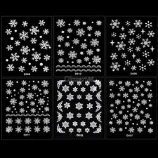 6 Sheets Christmas Snowflake 3D Nail Art Stickers Decal Tip DIY Decoration OK