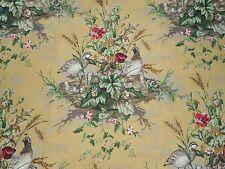 Scalamandre Fabric 'Edwin's Covey' 2 METRES  Multi on Mustard - Linen Union