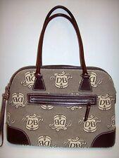 """Dooney & Bourke Handbag, Satchel type, 10"""" h x 15"""" w, width is 5 1/2 inches"""