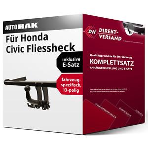 Anhängerkupplung abnehmbar + E-Satz 13pol spezifisch für Honda Civic 06-11 neu