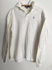 Vintage White Ralph Lauren Polo Rugby Shirt , M , USA.
