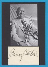 Benny Carter -  Jazzmusiker -  Saxophonist - Trompeter - Komponist - # 10421