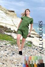 LINEN TOP & SHORTS , linen clothing , plus size clothing , plus size linen