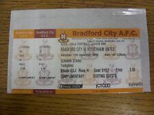 17/12/2005 BIGLIETTO: Bradford City V Rotherham United [COMPLETA BIGLIETTO, complimento