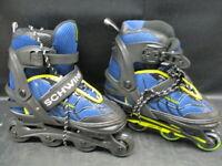 NEW SCHWINN ABEC-5 Inline Skates BLUE ROLLER BLADES Youth ADJUSTABLE Size 5-8 JR