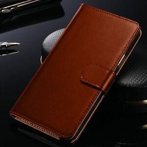 Luxury Brown Leather Flip Case Wallet Cover For Samsung Galaxy Models