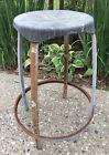 VTG Shop Utility Rustic Industrial Factory Steampunk Retro Stool Chair Plastic