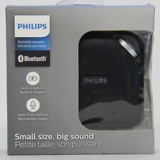 PHILIPS Compact Portable Bluetooth Speaker Music Built In Microphone & Battery