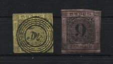 Baden 1-4 mit 2 a + b und 3 a + b gestempelt (B04376)