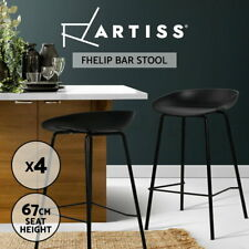 Artiss x 4 Kitchen Bar Stools Bar Stool Chairs Metal Black Barstools