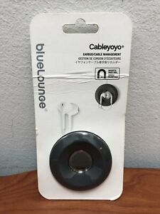 Bluelounge Cableyoyo Gray Earbud/Cable Case Soft Silicone Rubber Accessories
